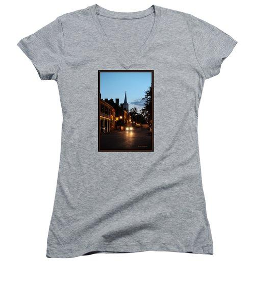 Jonesborough Tennessee 10 Women's V-Neck T-Shirt (Junior Cut) by Steven Lebron Langston