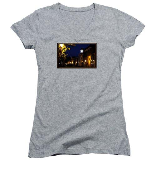 Jonesborough Tennessee 13 Women's V-Neck T-Shirt (Junior Cut) by Steven Lebron Langston