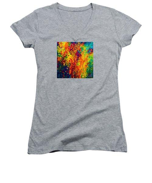 Joseph's Coat Trees Women's V-Neck T-Shirt (Junior Cut) by Eloise Schneider