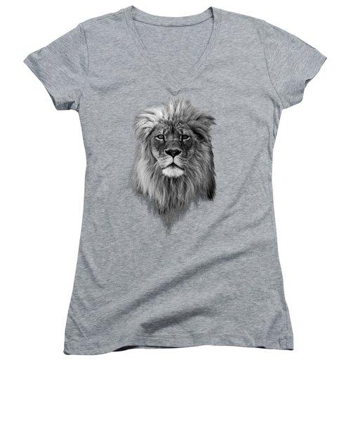 Joshua In Black And White Women's V-Neck T-Shirt
