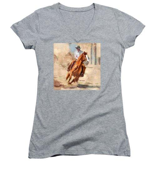 Joy Ride Women's V-Neck T-Shirt (Junior Cut) by Greg Collins