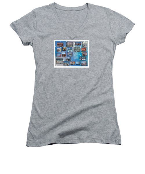 Joy Riding Around Waltham Women's V-Neck T-Shirt
