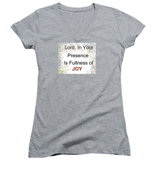 Women's V-Neck T-Shirt (Junior Cut) featuring the photograph Joys Of Life by Trilby Cole