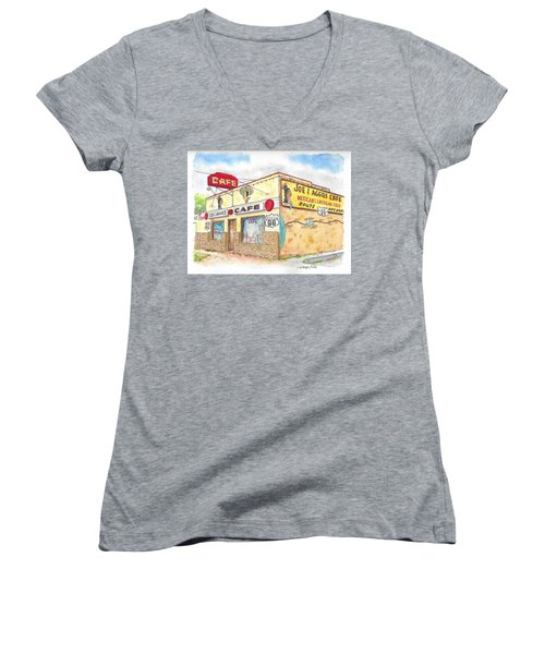 Joe And Aggies Cafe, Route 66, Holbrook, Arizona Women's V-Neck
