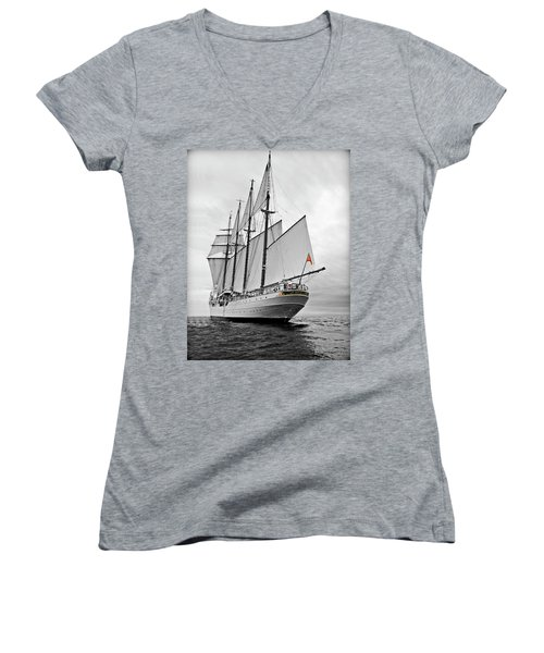 Juan Sebastian De Elcano In Its World Wild Travel Women's V-Neck (Athletic Fit)