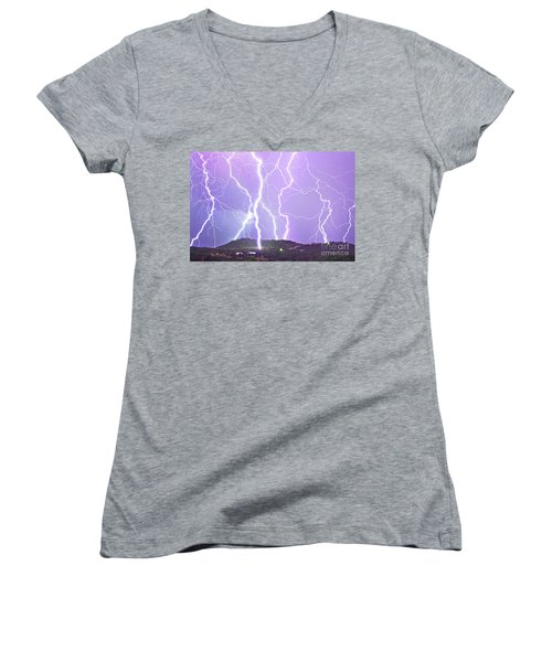 Judgement Day Lightning Women's V-Neck (Athletic Fit)