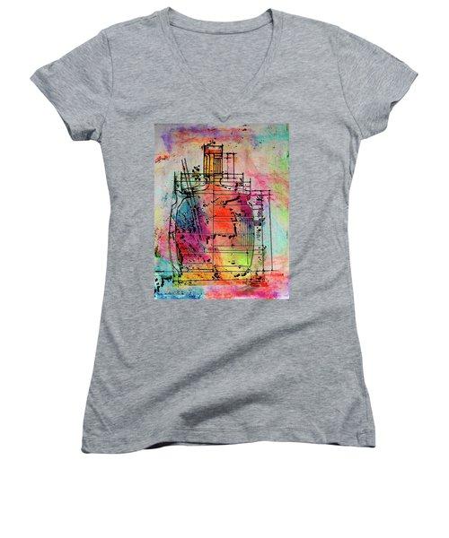 Jug Drawing Women's V-Neck T-Shirt