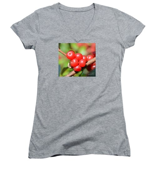 Juicy Red Women's V-Neck (Athletic Fit)