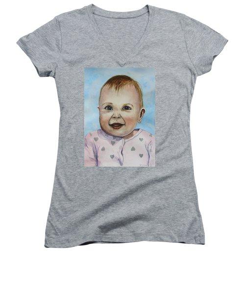 Julianna Women's V-Neck T-Shirt (Junior Cut) by Betty-Anne McDonald