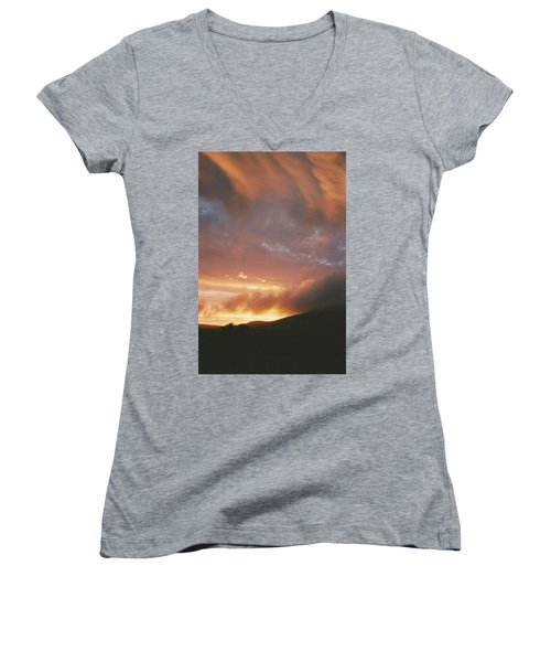 July Sunset Women's V-Neck T-Shirt