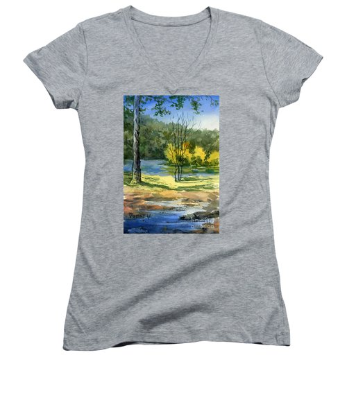 Junction Of White And Spring Rivers Women's V-Neck (Athletic Fit)