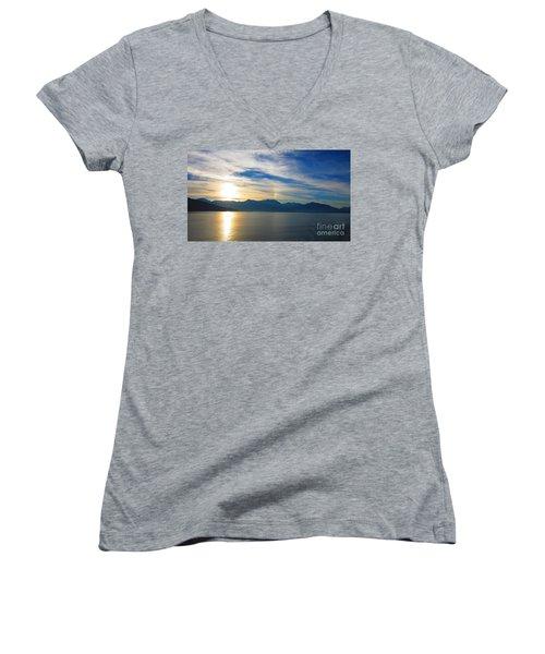 Juneau, Alaska Women's V-Neck T-Shirt