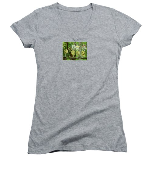 Jungle Spirits Women's V-Neck T-Shirt