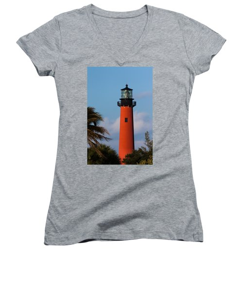 Jupiter Inlet Lighthouse Women's V-Neck (Athletic Fit)