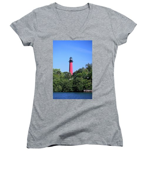 Jupiter Lighthouse Women's V-Neck T-Shirt