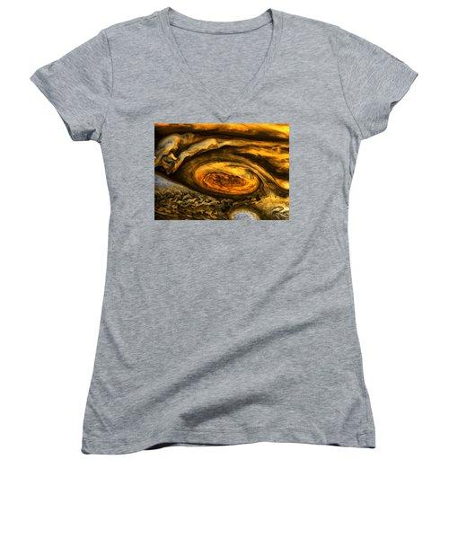 Jupiter's Storms. Women's V-Neck T-Shirt