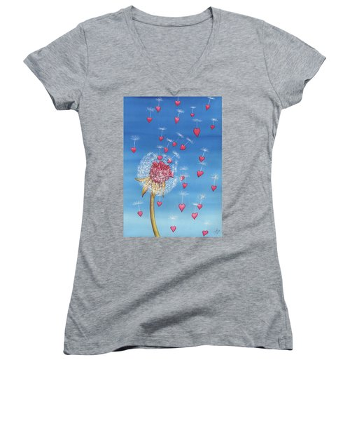 Just, A Breath Away Women's V-Neck T-Shirt