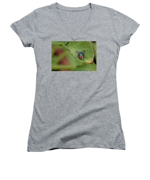 Just A Fly Women's V-Neck T-Shirt