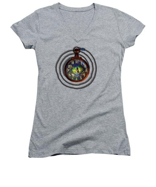 Just A Matter Of Time Women's V-Neck T-Shirt