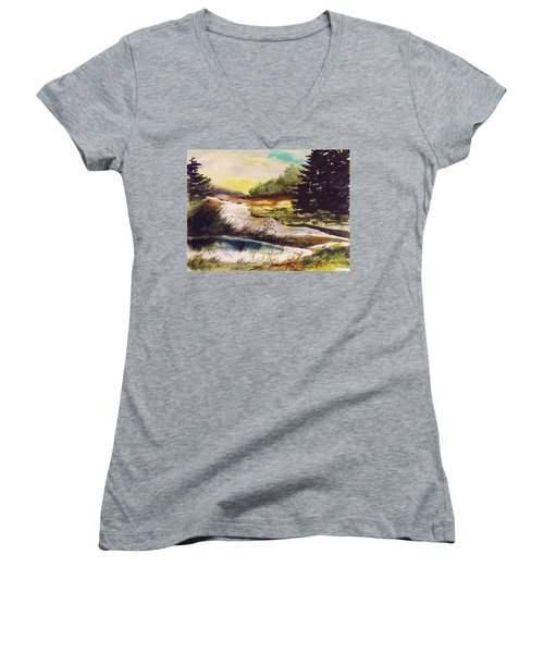Just After Daybreak Women's V-Neck T-Shirt
