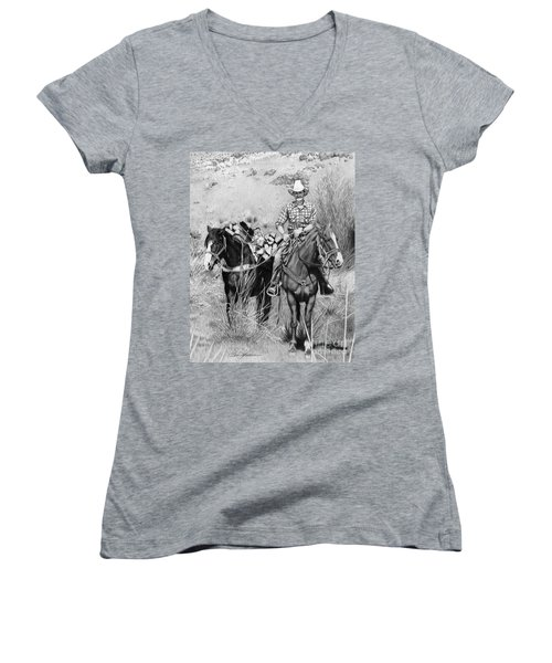 Just Another Western Workday Women's V-Neck (Athletic Fit)