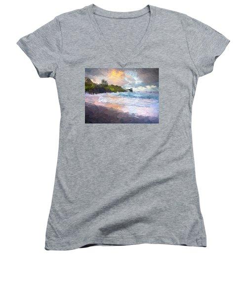 Just Before Sunrise Women's V-Neck T-Shirt (Junior Cut) by Anthony Fishburne