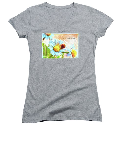 Just Believe Women's V-Neck (Athletic Fit)