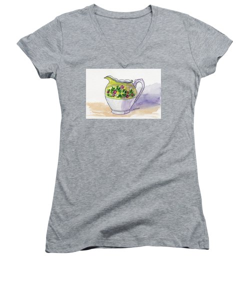 Just Cream No Sugar Women's V-Neck T-Shirt (Junior Cut)