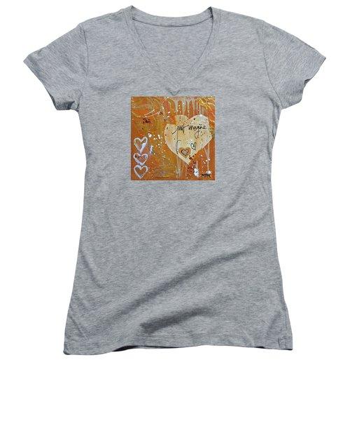 Just Imagine Women's V-Neck T-Shirt (Junior Cut)