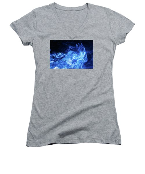 Just Passing By - Blue Art Photography Women's V-Neck