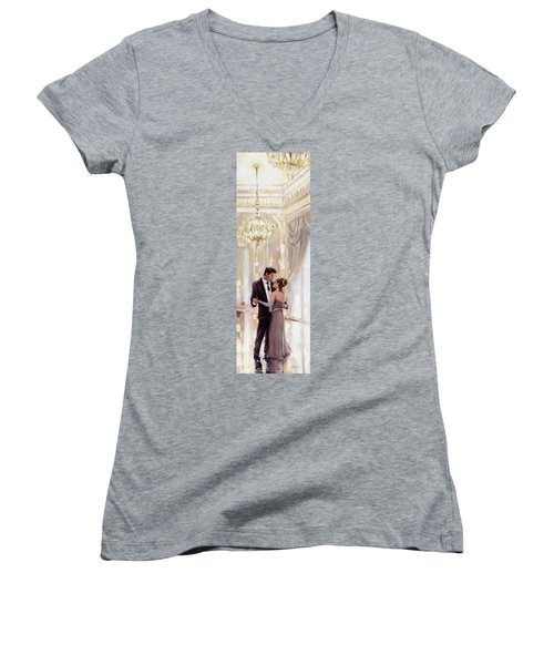 Just The Two Of Us Women's V-Neck (Athletic Fit)