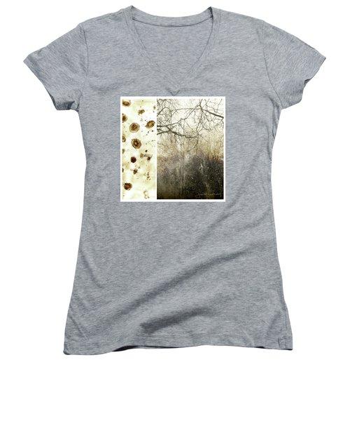 Juxtae #17 Women's V-Neck T-Shirt (Junior Cut)