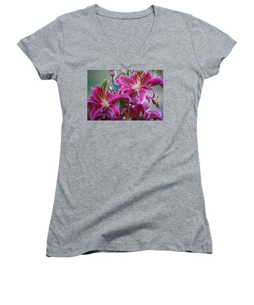 K And D Lilly 4 Women's V-Neck