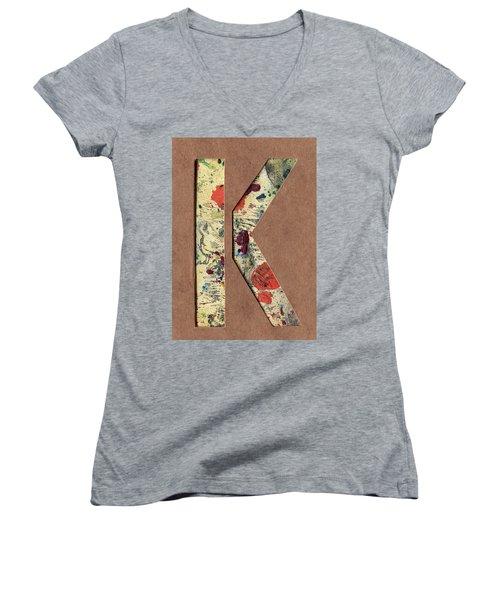 The Letter K Women's V-Neck T-Shirt