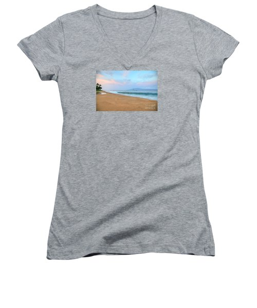 Ka'anapali Delight  Women's V-Neck T-Shirt (Junior Cut) by Kelly Wade