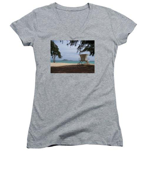 Kailua Beach Women's V-Neck T-Shirt