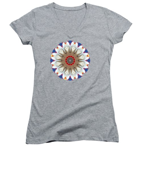 Kaleidos - Ptown02 Women's V-Neck T-Shirt