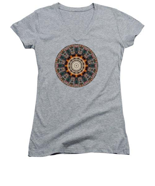 Kaleidos - Ptown04 Women's V-Neck T-Shirt (Junior Cut) by Jack Torcello