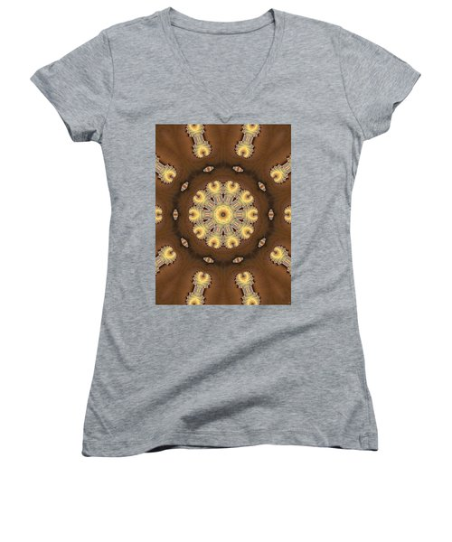 Kaleidoscope 125 Women's V-Neck T-Shirt (Junior Cut) by Ron Bissett