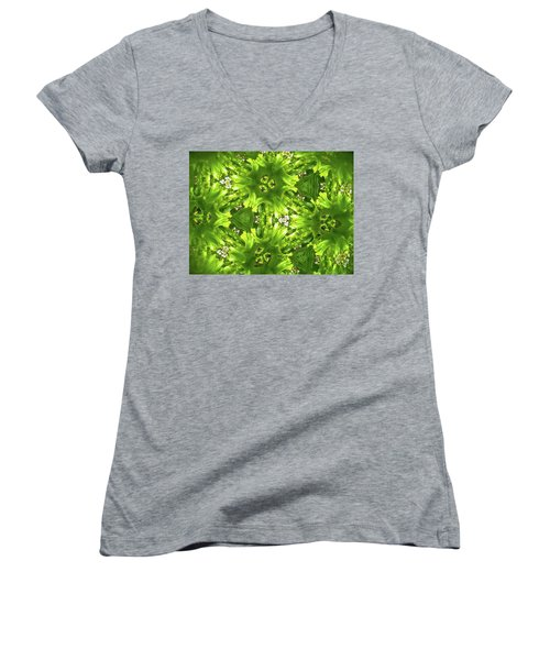 Kaleidoscope Flower Women's V-Neck T-Shirt