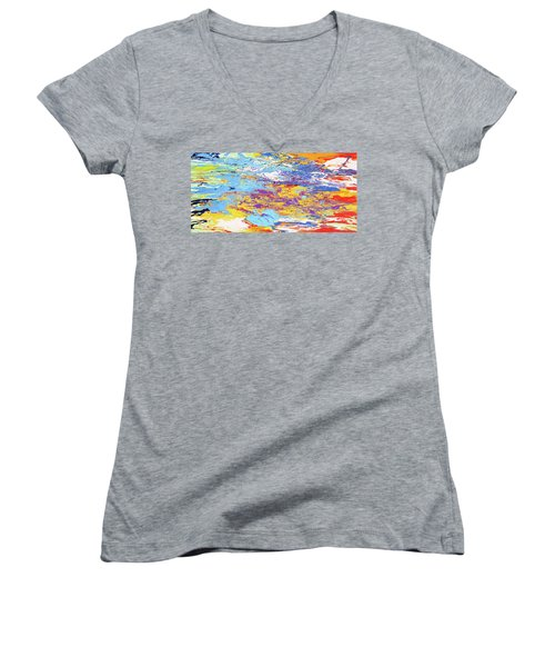 Kaleidoscope Women's V-Neck T-Shirt