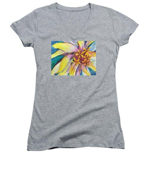 Kaleidoscope  Women's V-Neck T-Shirt
