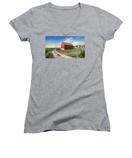 Kansas Landscape II Women's V-Neck T-Shirt