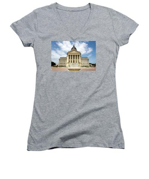 Kansas State Capitol Building Women's V-Neck
