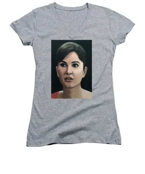 Katrina Kaif Women's V-Neck T-Shirt
