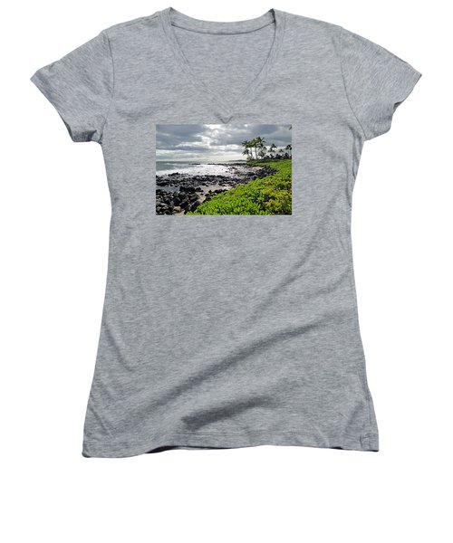 Kauai Afternoon Women's V-Neck (Athletic Fit)