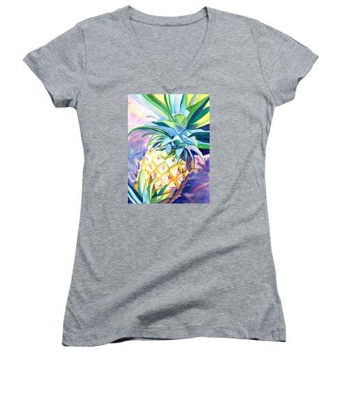 Kauai Pineapple 3 Women's V-Neck