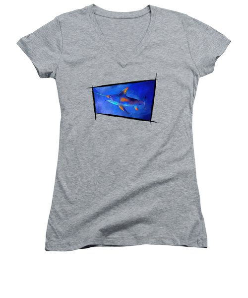 Kauderon V1 - Beautiful Swordfish Women's V-Neck T-Shirt (Junior Cut)