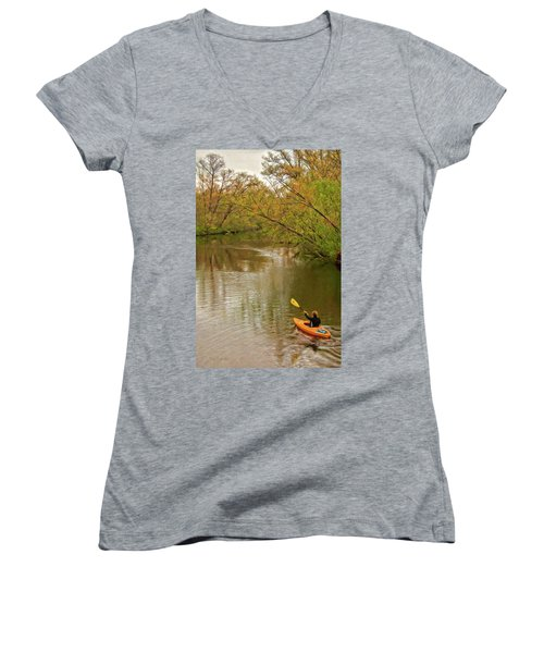 Kayak At Mead Women's V-Neck (Athletic Fit)