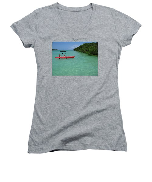Kayaking Perfection 2 Women's V-Neck T-Shirt
